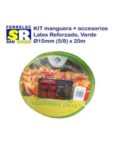 KIT MANGUERA LATEX REF 15 MM 20 MTS CACC