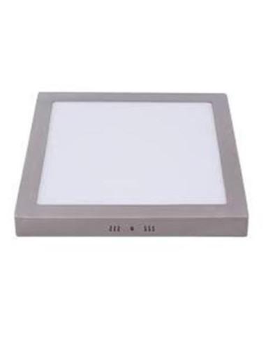 DOWNLIGHT LED 18W PLATA  SUP CUAD 6000K