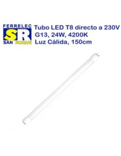 TUBO LED T8 24W 4200K 150 CM