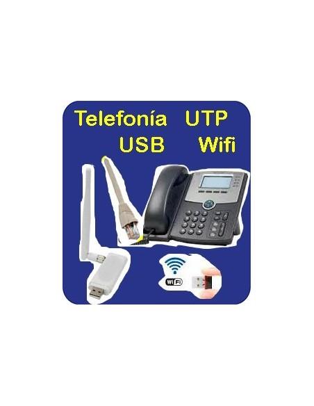 Telefonía - UTP - USB - Wifi