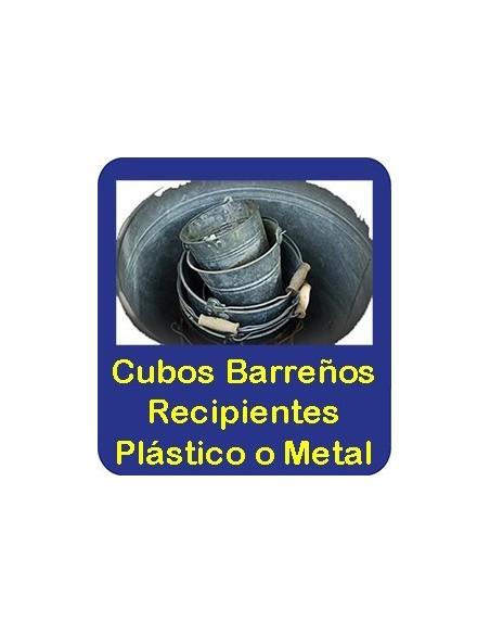 Cubos-Barreños de Plástico-Metal